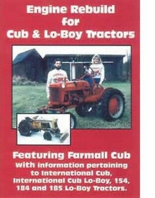 Farmall Cub International Cub Loboy 154 184 185 Tractors Engine Rebuild Dvd