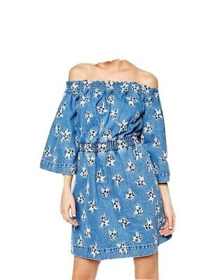 New House Of Holland Demim Dress   Available Sizes 6,8,10 & 12