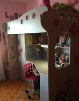 Bed base and bureau for kids 5-12 years old