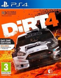 DIRT 4 PS4 BRAND NEW AND SEALED