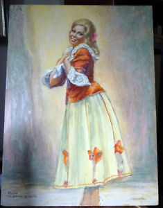 Opera, 'The Barber of Seville' Original Oil by Geoffrey Traunter Stratford Kitchener Area image 1