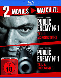 Public Enemy No 1 + Public Enemy No 2 - 2 Movies Watch it - Blu Ray - FSK 18