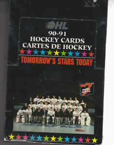 ONTARIO HOCKEY LEAGUE .... 1990-91 box ... possible ERIC LINDROS