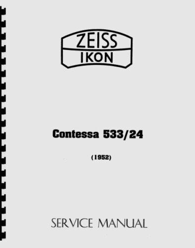 Zeiss Contessa 533/24 Service & Repair Manual (1952) Reprint
