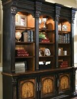 Hooker Northampton display case / bookcase glass and lighted