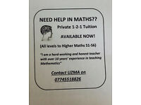 MATHS TUTITION BY A HIGHLY QUALIFIED TEACHER