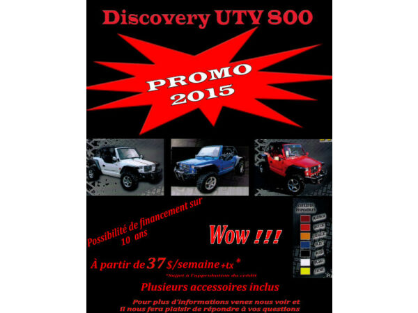 Used 2015 Other DISCOVERY UTV