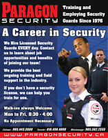Paragon: Long Term Employment. Security Training Offered Weekly!