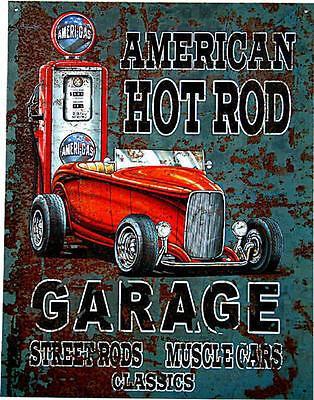 Kustom Garage Automotiv Oldtimer American Vintage Hot Rod DEko Auto Schild *959