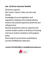 AZ Driver Instructor needed now!