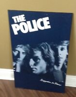 The Police poster - plaqued