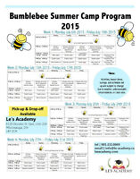 2015 Bumble Bee Summer Camp (Mississauga)