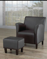 NEW! Beautiful Chair and Ottoman