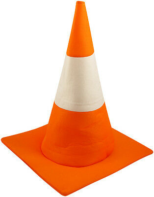 ADULT TRAFFIC CONE HAT ORANGE ROAD SAFETY FUNNY STAG NIGHT FANCY DRESS COSTUME](Safety Cone Costume)