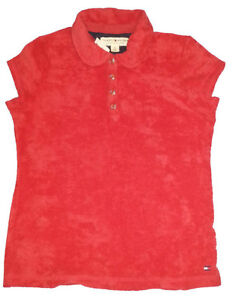 TOMMY HILFIGER Red Terry Cloth Polo Top - Girls Med - NEW Gatineau Ottawa / Gatineau Area image 3