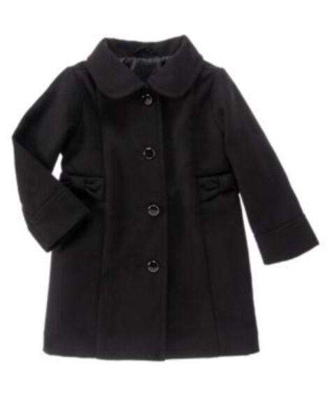GYMBOREE VERY MERRY BLACK LONG DRESSY COAT 6 12 24 2T 3T 4T 5T NWT