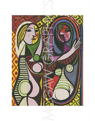 """PICASSO PABLO - GIRL BEFORE A MIRROR - Artwork Reproduction 14"""" x 11""""(618)"""