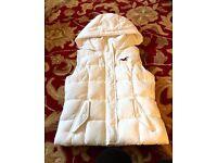 Hollister XS gilet winter white