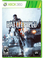 Jeux Xbox 360 Battlefield 4, Call of Duty Black Ops 1 et 2