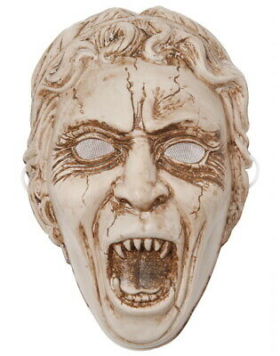 Weeping Angel Mask (Doctor Who Weeping Angel Face Vacuform Plastic Mask Costume Licensed NEW)