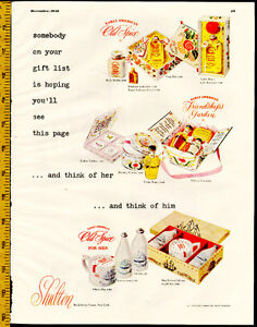 1948 large full-page magazine ad for Old Spice