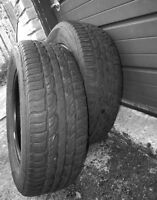 2 used Tires 225/65 R16 Kelly Navigator Touring Gold, great cond