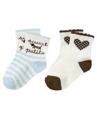 GYMBOREE GIRLS BEST FRIEND DOG N HEART 2pr OF GIRLS SOCKS 6 12 2 3 (Best Girls Socks)