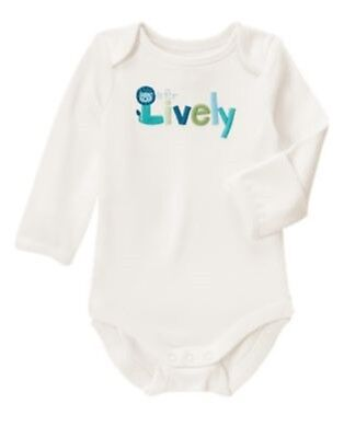 GYMBOREE BRAND NEW BABY LION L is for Lively BODYSUIT Preemies 0 3 6 12 18  NWT - Baby Lion