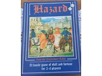 Hazard board game from the Canterbury Tales