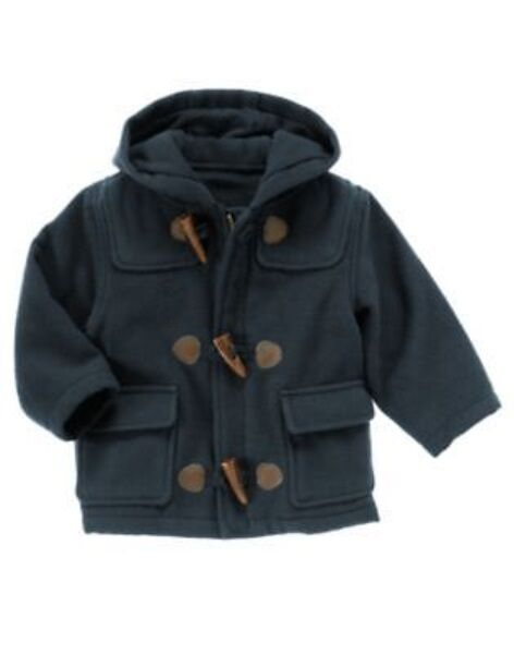 GYMBOREE SNOW CHILLIN NAVY TOGGLE HOODED JACKET COAT 12 24 2T 3T 4T 5T NWT