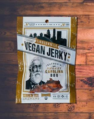 Louisville Vegan Jerky - Smokey Carolina BBQ - meatless, vegetarian, FREE SHIP - Meatless Vegan Jerky