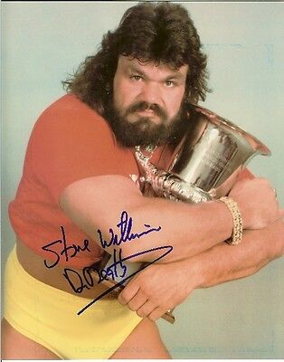 Steve Williams Dr. Death autographed 8x10 WWF WCW #1 Deceased Free Shipping