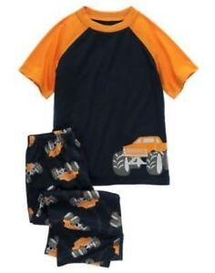 GYMBOREE-MONSTER-TRUCKS-TRACKS-2-PC-L-S-PJS-GYMMIES-12-18-24-2-3-4-5-6-7-10-12
