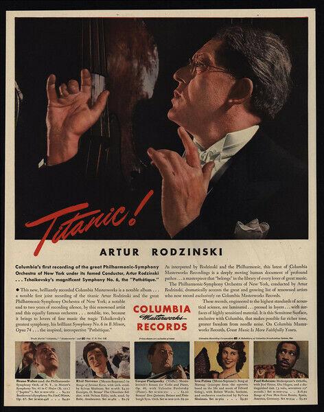 1945 ARTUR RODZINSKI - Columbia Records Conductor - Philharmonic - VINTAGE AD