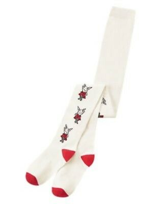 Tight White Collection (GYMBOREE OLIVIA COLLECTION WHITE w/ MULTI OLIVIA PRINTED TIGHTS 4 5 6 7 8 10 12)