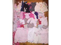 42 piece girls babies clothes 0-3 months