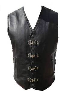 Motorcycle&Biker Leather Vest Double Black Hand Braided Clayton Monash Area Preview