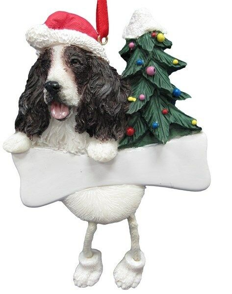 SPRINGER SPANIEL  ~ DANGLING DOG ORNAMENT #42
