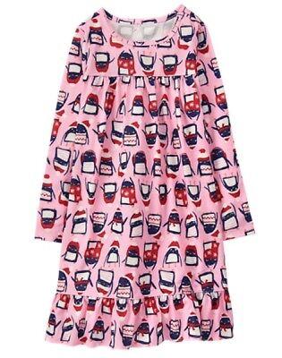 NWT Gymboree Penguin Nightgown Pajama Girls Christmas SZ 3,5/6,7/8,10/12