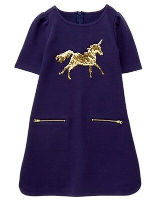NWT Gymboree Girls Dress Unicorn University Sparkle Unicorn Dress 5,6,10,12