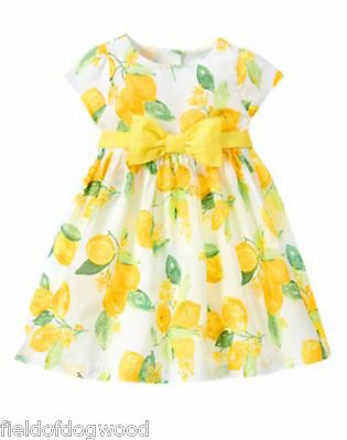 NWT Gymboree Egg Hunt Lemon Dress 6 12 18 24M,2T,3T,4T Easter Holiday Wedding