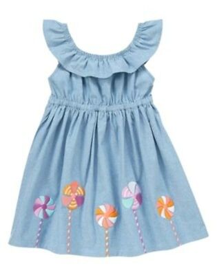 NWT Gymboree Pinwheel Pastels 12 18 24mo Chambray Dress Toddler girl
