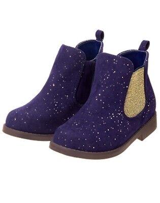 NWT Gymboree Ready Jet Go Girls Purple Boots Sparkle Ankle Shoes Many Sizes](Girls Purple Sparkle Shoes)