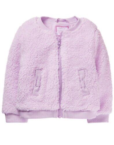 NWT Gymboree Woodland Weekend Toddler Girls Jacket Lavender Sherpa 2T,3T,4T