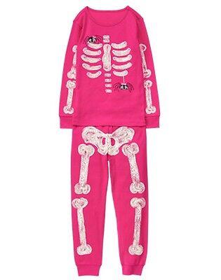 NWT Gymboree Skeleton Gymmies Pajama Girl Glow in the Dark 2017 Pink ManySizes