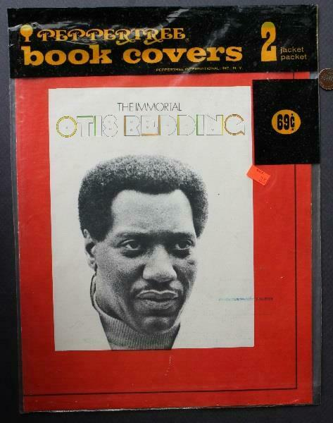 1970s Era Otis Redding- Aretha Franklin set of TWO unused book covers in packet!