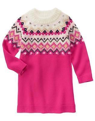 NWT Gymboree Snowflake fun Pink Sweater Dress SZ 4,5,6,7 Girls