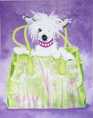 "CHINESE CRESTED DOG FINE ART PRINT - ""Chinese Crested Handbag"""