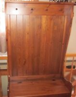 Custom made wooden bench