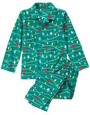 NWT Gymboree Christmas Boys Lights Fleece Pajamas Holiday Green many sizes (Boys Holiday Pajamas)
